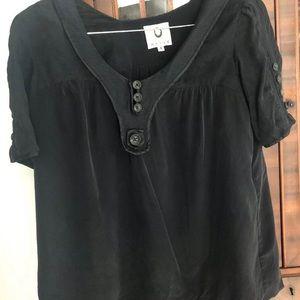 Mayle Original Black Silk Blouse